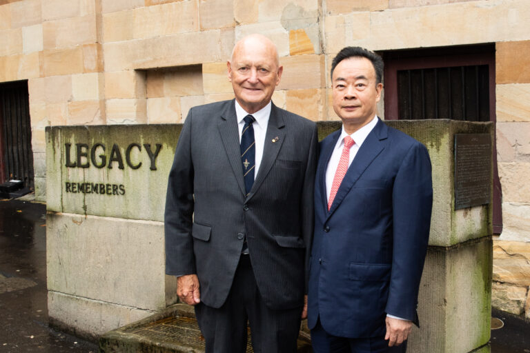 Dr Chau Chak Wing donated to support Legacy Australia: April 2019