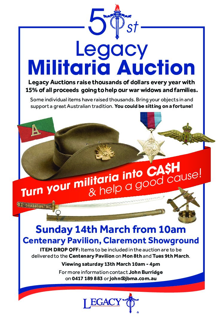 Militaria Auction A5 flyer v2.1 – NO BLEED